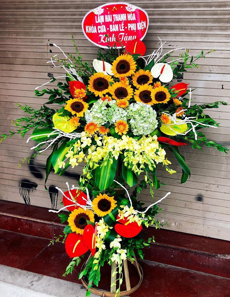 Hoa hướng dương là lựa chọn tuyệt vời để chúc mừng khai trương