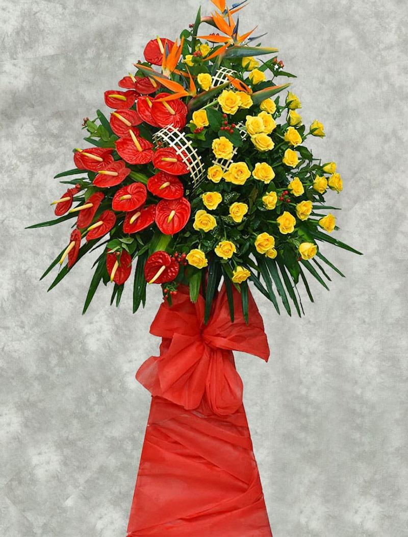Hoa mừng khai trương nên chọn những loại hoa có màu vàng và màu đỏ