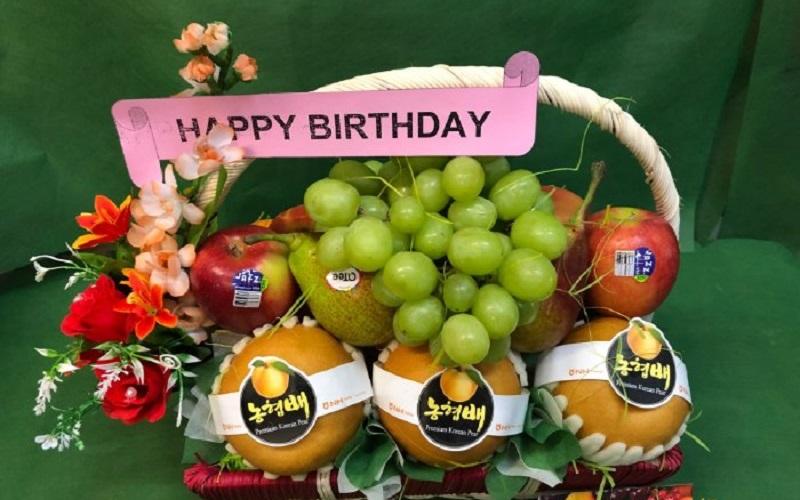 Chọn mua giỏ trái cây tặng sinh nhật thể hiện thành ý với người nhận