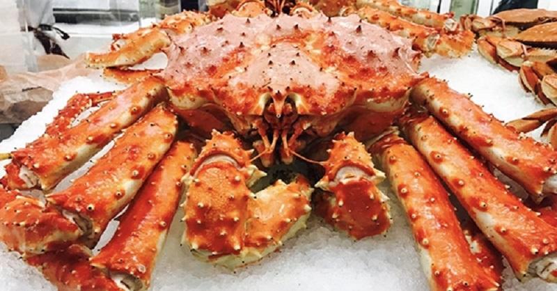 Cua King Crab sống ở vùng biển khí hậu khắc nghiệt, khó đánh bắt