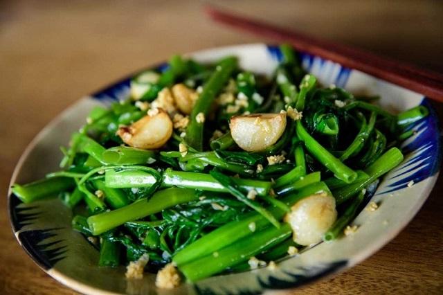 Rau muống được chế biến thành nhiều món ăn có tác dụng tốt với sức khỏe